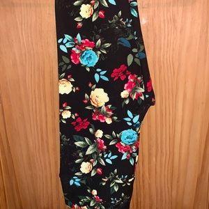 NWT OS LLR Floral & Jaguar Printed Leggings
